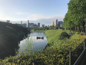 皇居坂の坂上からの風景