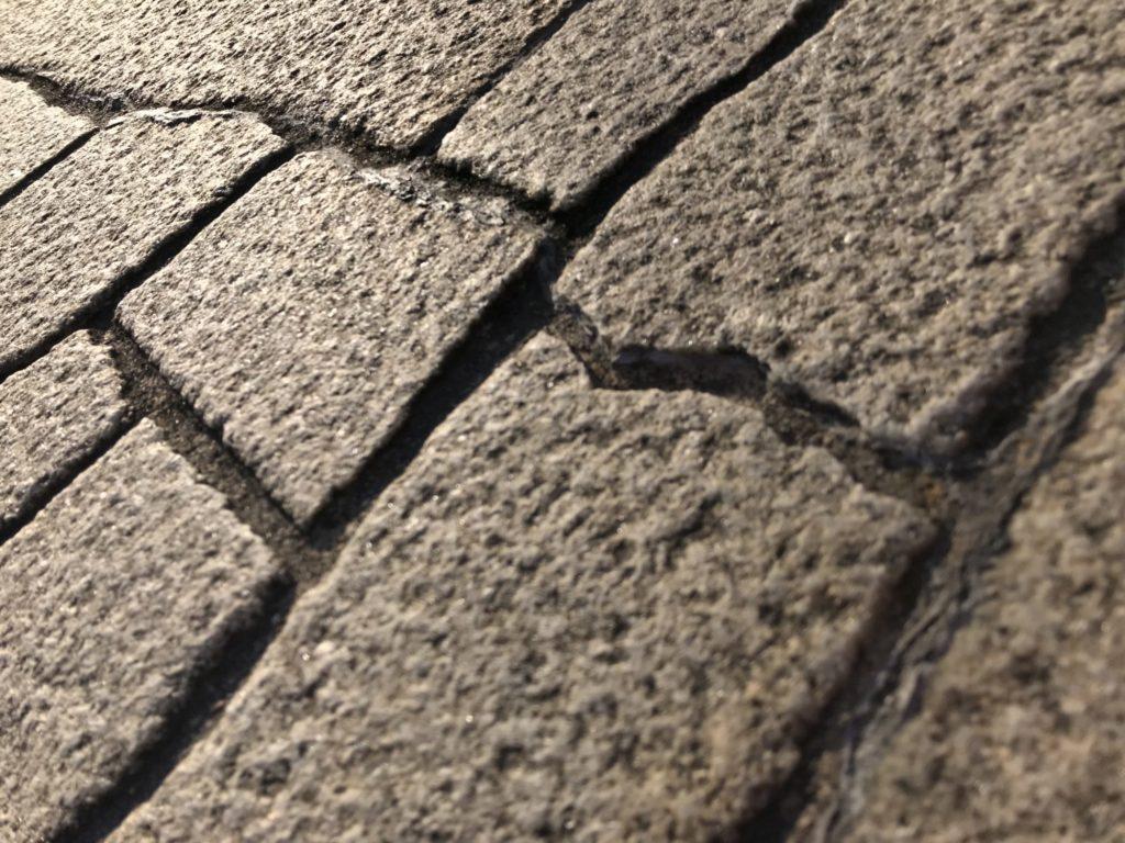 桜橋の石畳