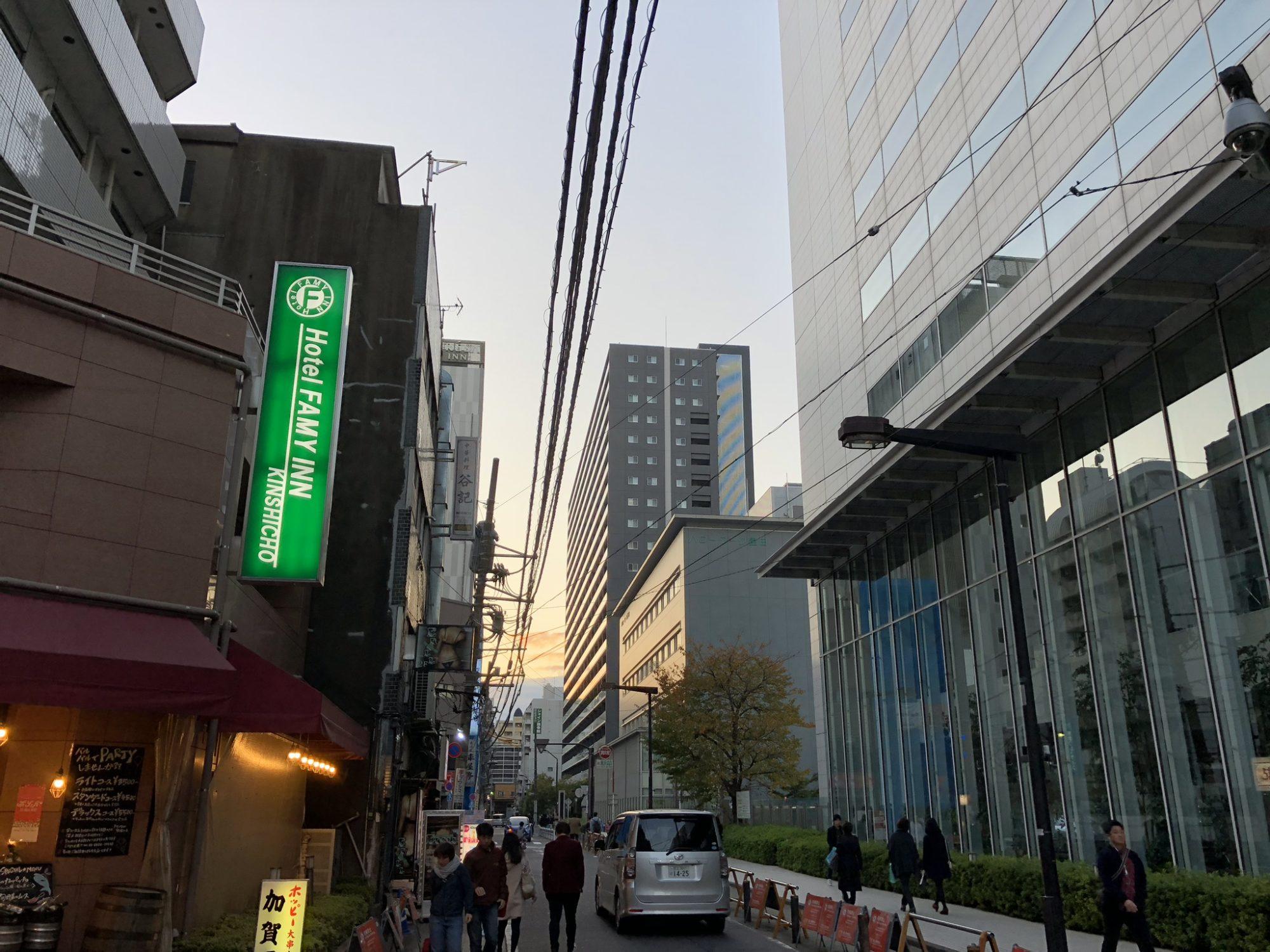 錦糸町の夕暮れ