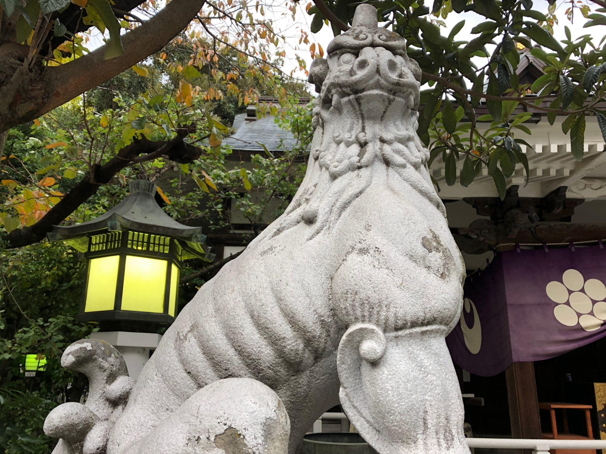 鳥越神社の狛犬